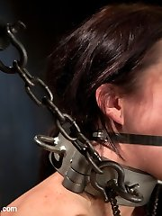 This is the first-ever installment of a Three part live flash in which Bryn Blayne gets sweet penalty while Alani Pi watches helplessly from inside a cage.  Poor Bryyn is given a chance to run away her fate as she writhes desperately on the ground trying to undo her bondage. Unluckily for her, we have other devious plans in mind. See as this nasty tart is smacked, crushed, and teased with painful nip clamps while Alani can only sight on from her cage knowing that she might be our next victim?..