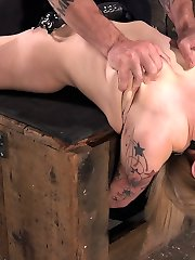 Behind Dahlia Sky's jummy smirk is a filthy little slut that loves having her limits tested. She's tied up and roped down in punishing bondage, and made to endure a rigid ravaging in all her holes until she cums like the masochistic super-bitch she is.