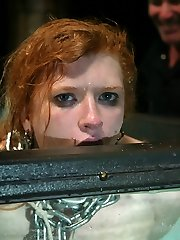 Madison and I toyed a bit harder this time than in the past.  She truly is a slut of many kinds. A restrain bondage superslut, ache bitch and orgasm slut. And we love her for it! So I bound her firmer, cropped her tighter and let her ejaculation less.   Interesting interactions in the tank shoot this time.  Communication lapse? Or fearplay?  You decide.