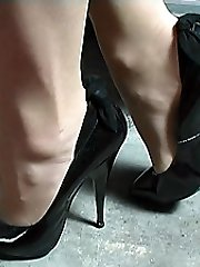 If women boots make you go hard just by looking at them then Mel's nice fancy shoes will do it for you. Just view at her lean tapered 5 inch heel, with her sensitized bow at the back and her super-cute pointed fronts
