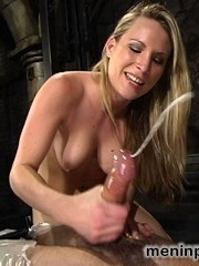 The stunning Mistress Harmony Rose is a tiger in latex ? ravaging Her willing slave until She leaves him spent and taken. Harmony ties his cock to a wince, pulling it high and tall, teases him endless with Her body, demands pussy and ass licking before really enjoying Herself by encasing Her slave in plastic wrap that keeps him so close yet so far with from Her soft skin. The breath play in the final scene is not to be missed as Mistress Harmony has complete control of Her willing slave.