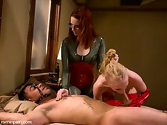 Miss Adams dominates Rico the pain slut and Sarah the screw slut in this highly scorching MIP update.  Featuring, PAIN, electrical play, whipping, clamps, caboose banging with a HUGE strap on and of course a heaping dose of hardcore sex.