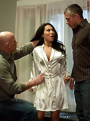 Asa Akira, the sexiest Asian in the adult porn industry, gets intense rough sex, hard bondage sex and double penetrated in this erotic fantasy role play update!  This is the first time Asa Akira has anal sex while bound for SexandSubmission.com, along with throat fucking and sexual domination by Mark Davis and Mick Blue.  In this storyline shoot, Asa Akira plays a sex therapist who gets caught having sex with one of her patients and is blackmailed by two ruthless private investigators.  Hardcore BDSM ensues with Asa begging for forgiveness as she is completely used and abused.