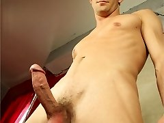 Cool man David is 28, straight and lives in Chicago where he works for a building company. A horny guy he whacks off a few times a day unless he has help... Love as he peels off down to his sexy underwear, stroking his super-cute dick and showing off his round bum, before sucking a sticky geyser. Enjoy! :)