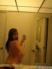 Really nice pictures of brown-haired youthful girl Missy S. being naughty in the bathroom. Watch and wank your dinky!
