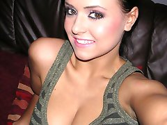 Nice and very good looking alurring babe downs her shirt letting out her big boobs