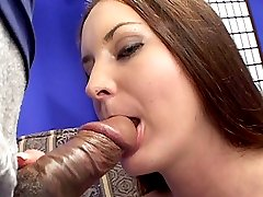 Pretty lady with unshaved twat gets ass impaled