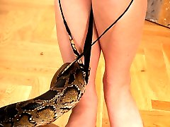 Barefoot Benji with a snake!