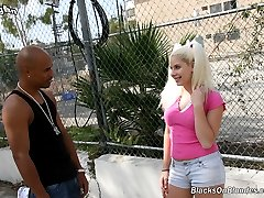 Interracial Cock Lover, Kinzy Jo Gangbang GangFucked By Black Cocks at Blacks On Blondes!