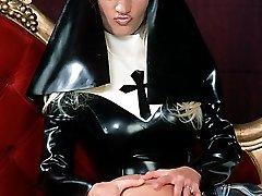 latex nun spanks and licks catholic college girl