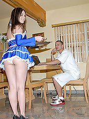 Brunette chick gets jack hammered with her panties on