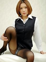 Emi Orihara Asian with rigid cans gargles dick and has mouth-watering pussy