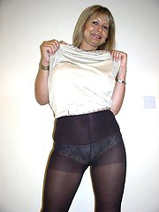 Take a look at my panties through my pantyhose