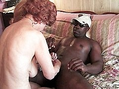 Granny broads enjoying a hard black cock