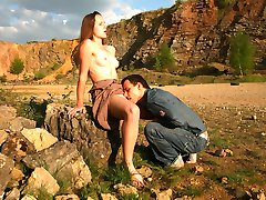 There�s no sex like outdoor sex, at least for the horny sex machine Klara. She�s been itching for good fucking and when Aleksandr found an abandoned quarry, she immediately wanted to try it out.