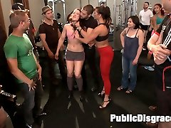 Cheyenne Jewel is one tough babe, but she makes an even better filthy poor-excuse-for-a-gym-rat of a whore.  Ariel makes her earn her membership by lifting weights while getting face-fucked, doing sets of shoulder shrugs as she is fisted in front of unsuspecting gym members, pumping her wet ass up and down Xanders cock in the Captain's  Chair and taking DP like a champ! Pussy-licking, rough sex, anal pounding, and anal cream pie!