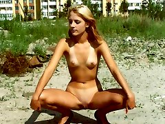 Young nudists posing