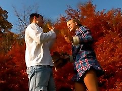 Even something harmless like a walk in the woods, enjoying the fall colors can turn into something x-rated when this naughty platinum-blonde teenager is around. All she can think about is hookup!