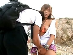 Satou Haruka Asian has cans and crack touched OutdoorJp.com
