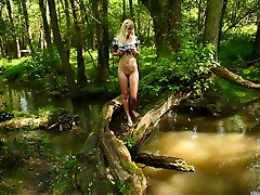 Danielka luvs to go out to the flow behind her house just as the sun is going down and sit by the water. That�s not all Danielka loves to do however, she just can�t keep her fingers off her tight assets!