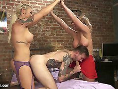 TS Seduction has not seen a hot threesome like this ever! We pop Phoenix Marie's cherry in her VERY FIRST transexual scene ever! Aubrey Kate plays Phoenix's step-sister. One day when Phoenix is out buying booze for her and her boyfriend, Will Havoc, to have a cozy night in things get hot. Aubrey can't keep her hands off Phoenix's boyfriends. Will can't control himself once he finds out Aubrey has a hungry cock and Phoenix catches him with his pants down hard as rock. What does she have that I don't have? When Aubrey reveals her secret the chemistry between these three jumps from the screen! The power exchange flows from one to another. Everyone ass gets filled, every cock sucked, every pussy licked and a three stacked penetration tower builds to Aubrey spraying her load on Phoenix and Will's faces! Do not miss this one!!