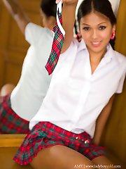Ladyboy schoolgirl