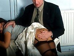Sound bare bottom otk spanking for pretty office girl in tears