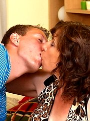 This housewife loves to play with her younger lover