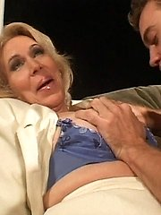 Sexy grandma feels young again as she gets pounded by a college frat boy