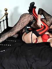 Jane takes full control of this busty babe and fucks her nice and hard with that big strapon of hers.