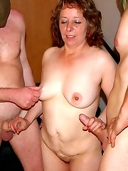 Mature sluts fucked by the kinky gang