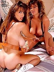 Christy Canyon and Paula Price playing nude