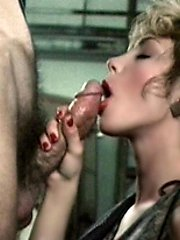 Blonde sucking quick manhood