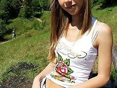 Denim shorts dolls on a summer day