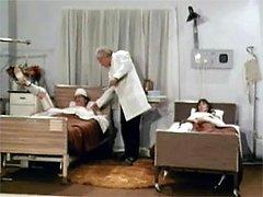 Women cheering up patient