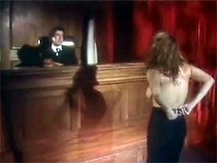 Retro babe bribes the judge