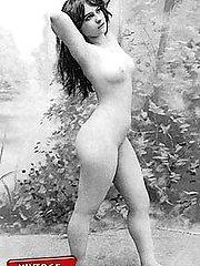 Vintage ladies pose outdoor
