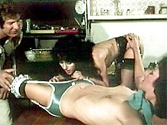 Retro women pleasing cock