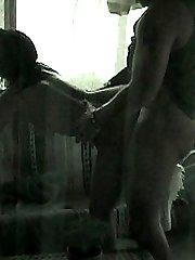 Sneaky neighbor secretly films this duo having hard intercourse