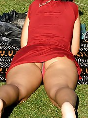 Candid upskirts in public places on this collection