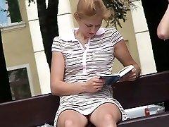 Kinky hunter records uber-cute panty upskirts