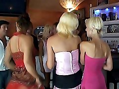 Wild party at bar.
