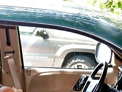 Voyeur peek at the car