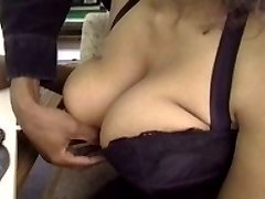 Busty black Toy Clayton saggy hangers