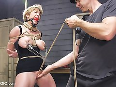 A special feature for the New Year, starring very special slave meat Darling. Darling is a hardcore masochistic fuck slut and we take the intensity straight to eleven right out of the gate with this one. Darling's body is looking phenomenal and takes the rope great. Gags, multiple nipple clamps, squirting orgasms and hard anal fucking for days start the New Year off right!