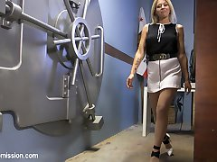 When a beautiful but mischievous bank teller tries to short Xander Corvus on a deposit, she is drawn deeper and deeper into Xander's twisted web of blackmail, bondage and anal sex.
