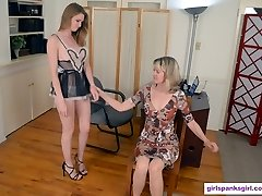 Ashley Lane Spanked for Spectacular Costume in Office