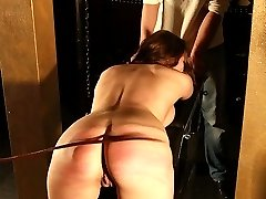 Severe ass whipping torture