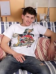 Kirk came for a visit and we persuaded him to let us film an unscripted solo. We just can't pass up those apartment eyes and sumptuous smirk. He plumbs the bed with his thick, uncircumcised stiffy before taking matters into his own hands. Each time he stuck his finger in his gullet, we wondered if he was thinking of us . . . or you. Love!