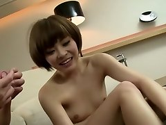 Amazing Japanese whore in Fabulous Threesome, Cumshot JAV flick